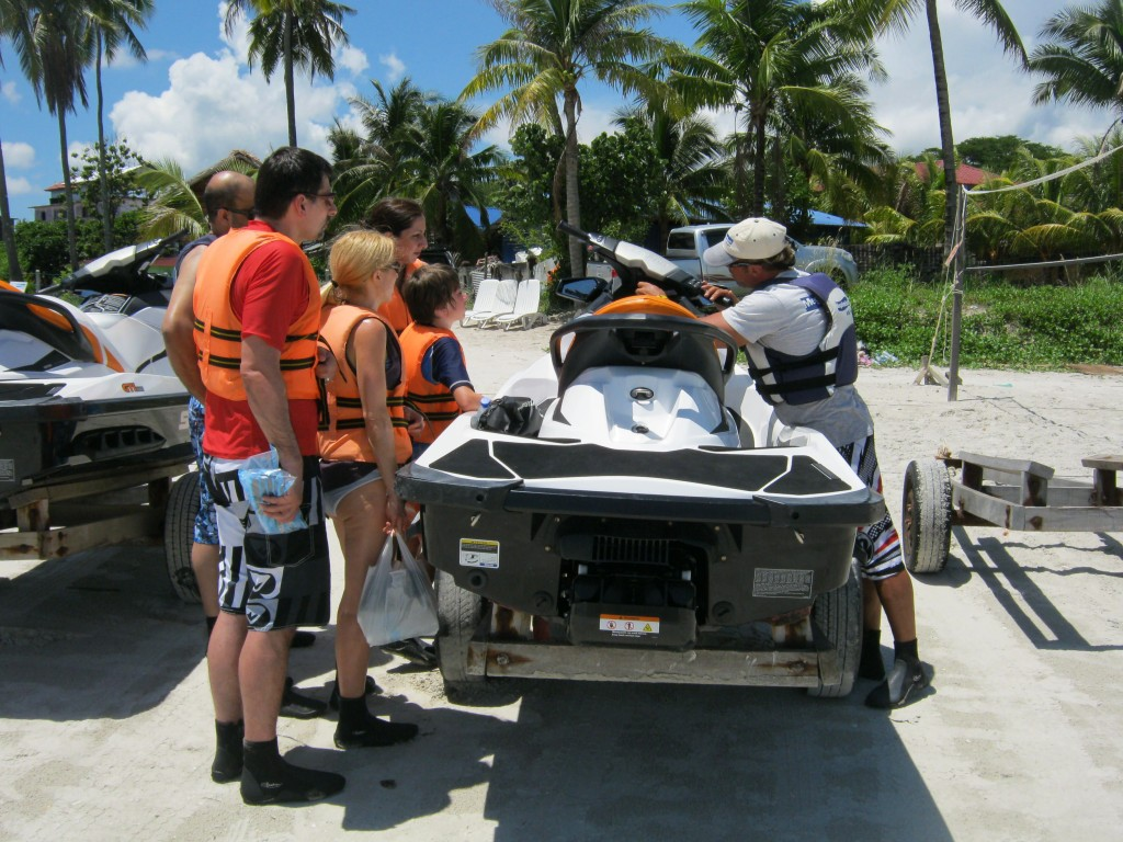 Proper jet ski operating is explained in detail.