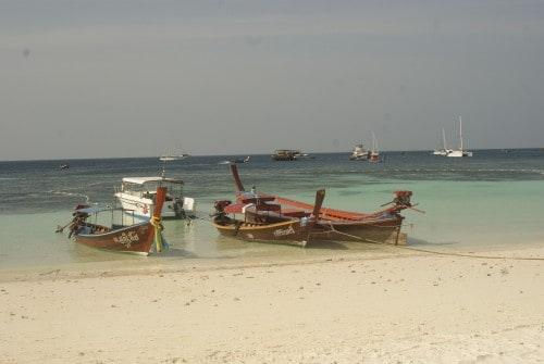The quiet morning shores of Koh Lipe await.
