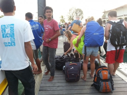 The late departure Koh Lipe boat also brings new visitors to Langkawi.