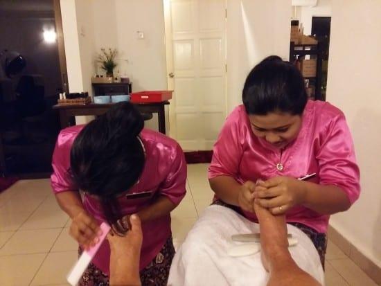 Sari Dewi manicure and pedicure service