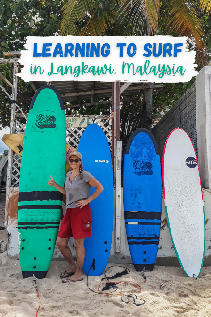 Learning Surfing in Langkawi, Malaysia